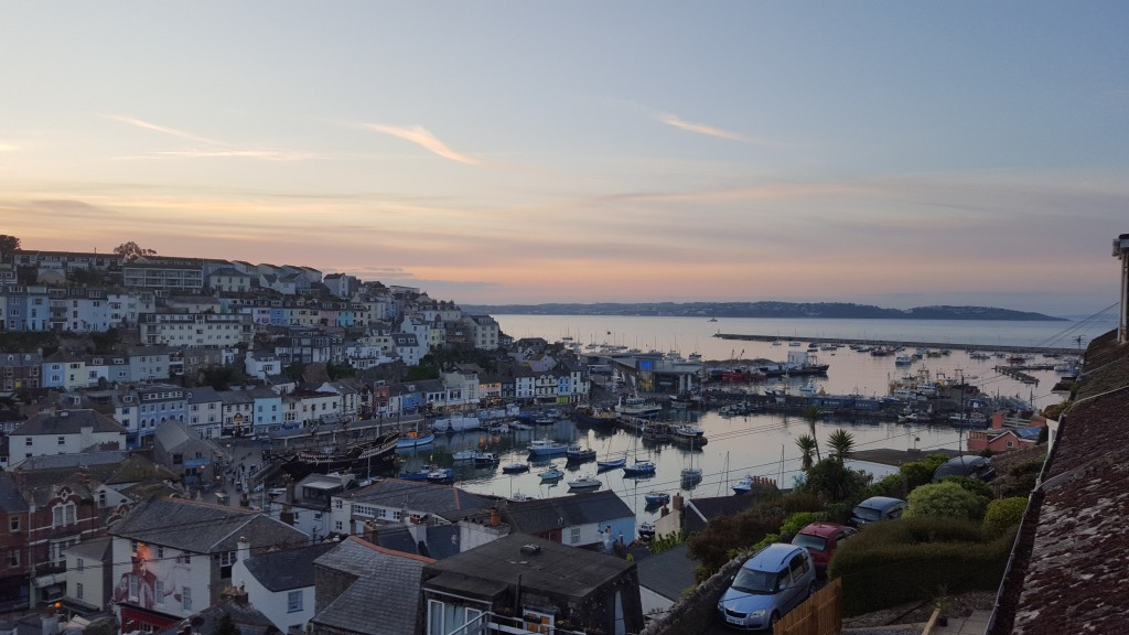 Brixham Sunset from the cottage